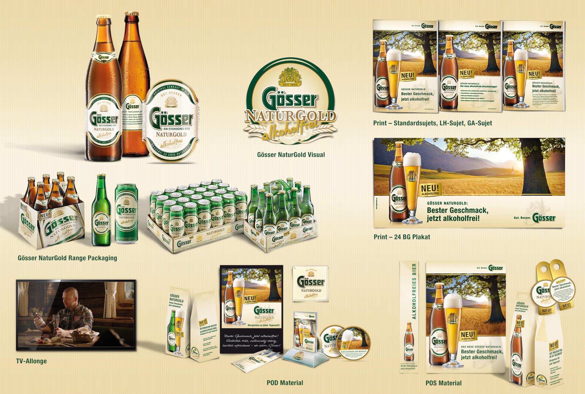 Gösser NaturGold – das erste alkoholfreie Gösser