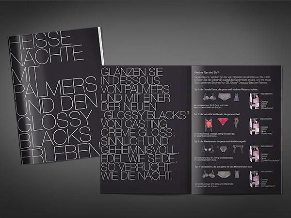 Promotion Booklet in Zusammenarbeit mit Palmers